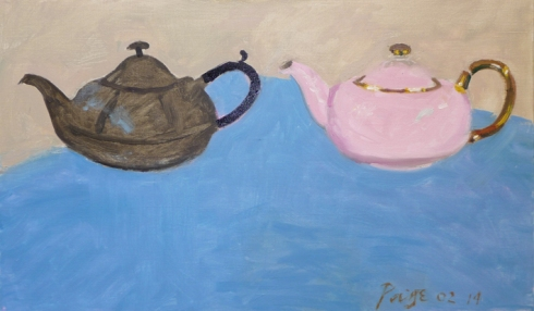 Two Teapots  opil on canvas  02 14