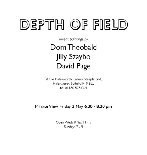 Depth of field flier text