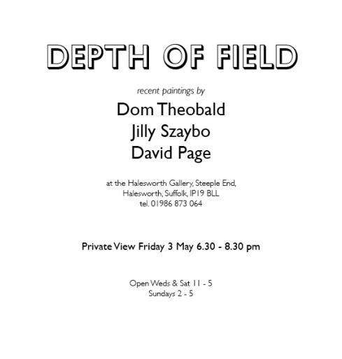 Depth of field flier text