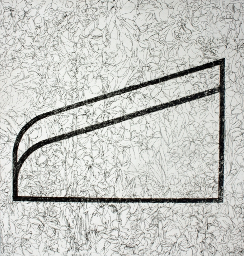 Dom Theobald 'Slope' 2012 etching 59x55 cm 72